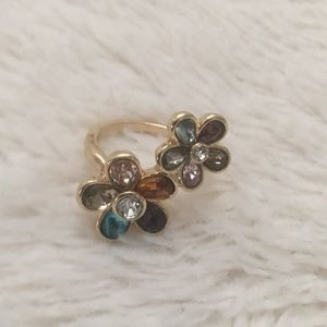 NEW Multicolored Flower Ring